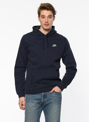 Nike Kapüşonlu Sweatshirt Mavi